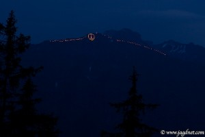 Sonnwendfeuer im Salzburger Land