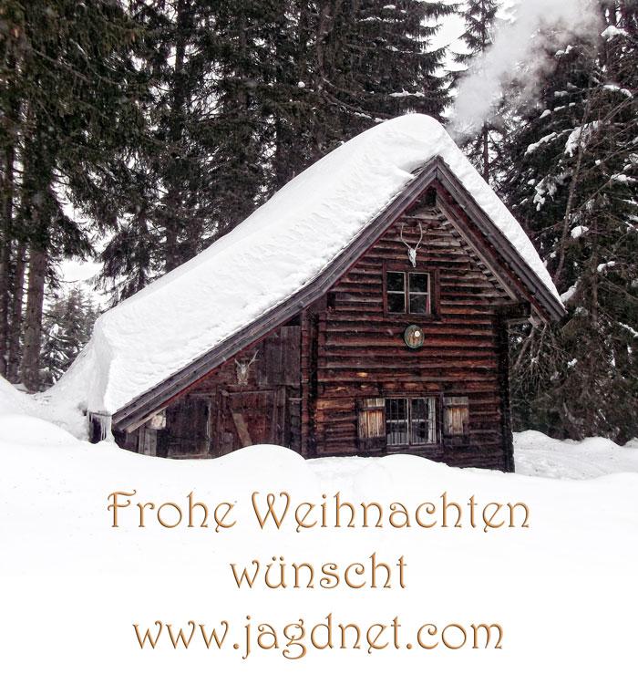 Frohe Weihnachten wünscht www.jagndet.com